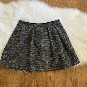Madewell Black Tweed Lined Countdown Mini Skirt 2